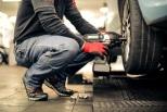 fixing a car tire